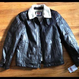 NWT Levi's leather bomber jacket
